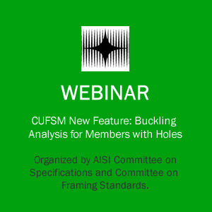 Webinar on CUFSM New Feature: Buckling Analysis for Members with Holes course image