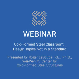 Webinar on Cold-Formed Steel Classroom: Design Topics Not in a Design Standard course image