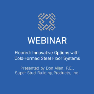 Webinar on Innovative Options with Cold-Formed Steel Floor Systems course image