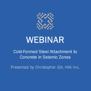 Webinar on Cold-Formed Steel Attachment to Concrete in Seismic Zones course image